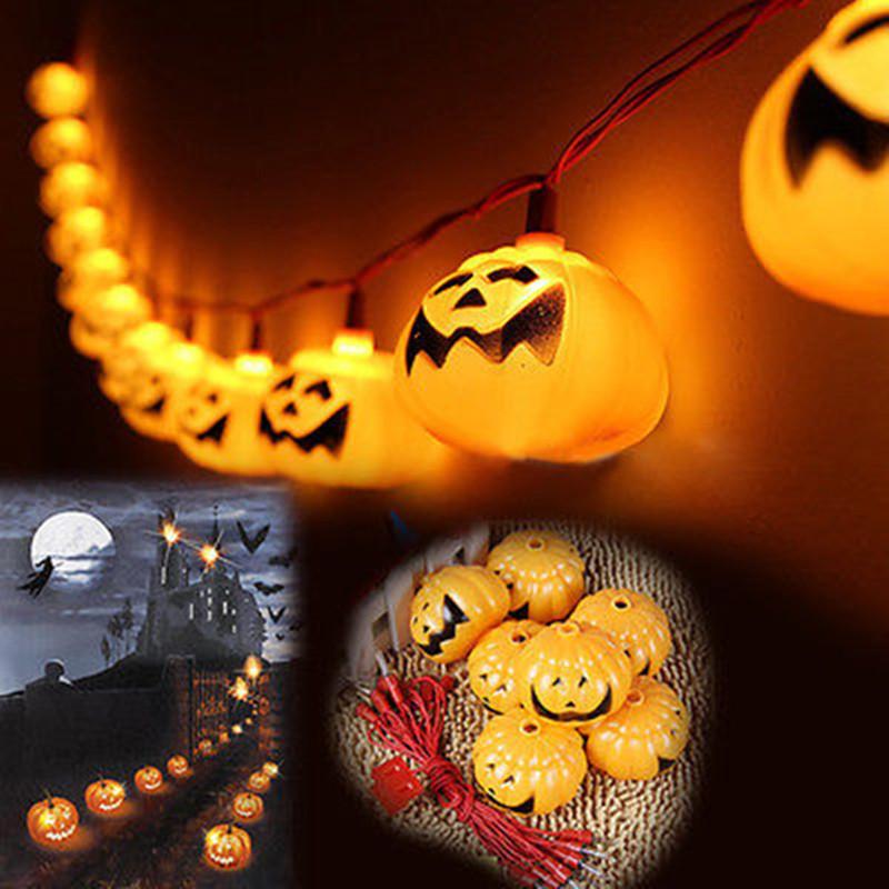 Halloween Decoration Party Prop 220V Pumpkin Led String Light 16 Lamp Holder Bar Decoration Fairy lights Christmas Festival Lamp(China (Mainland))