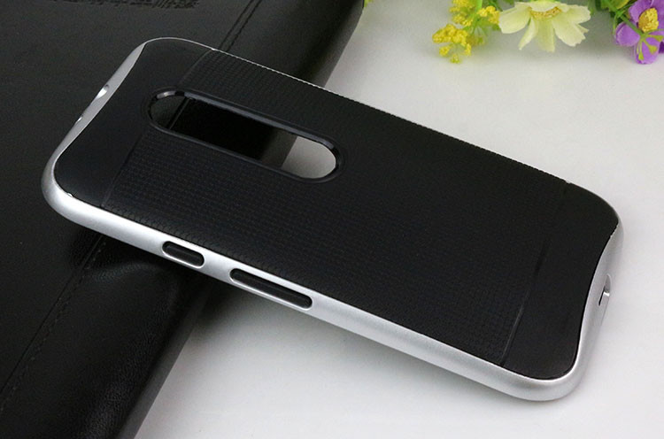 Dual Layer TPU Hybrid + PC Frame Back Cover For Moto X Play Mobile Phone Case Protective Accessory