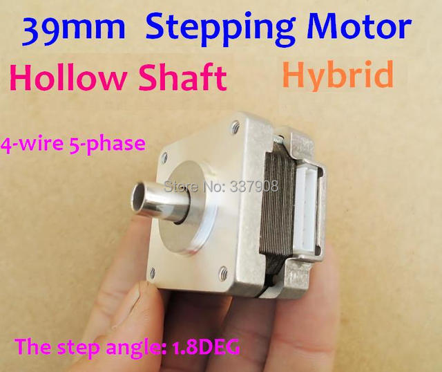 2pcs Hollow Shaft Hybrid Stepping Motor 4 Phase 5 Wire