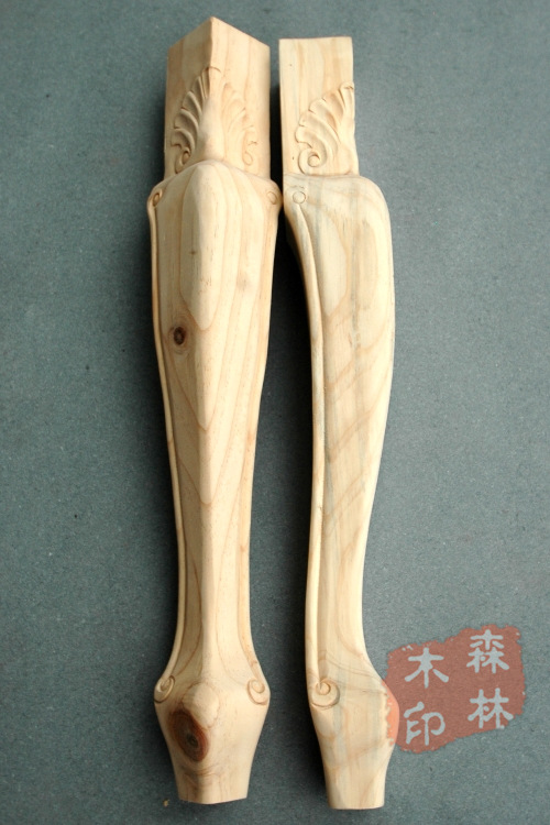 Wood antique furniture solid wood dining table foot wood chair legs solid wood furniture dresser table legs(China (Mainland))