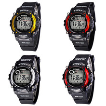 Multifunction LED Digital Waterproof Alarm Kids Child Boy Sports Wrist Watch