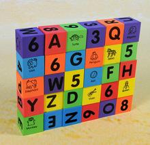 Big Size Foam Eva Learn Number Alphabet Letters ABC 123 Animal Multi-colored Child Soft Blocks Educational Toys,1SET=30PCS(China (Mainland))