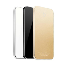 2016 ultra thin metal Aluminum colorful portable 4000mAh Fast charge universal mobile phone power bank for iphoneSE Android