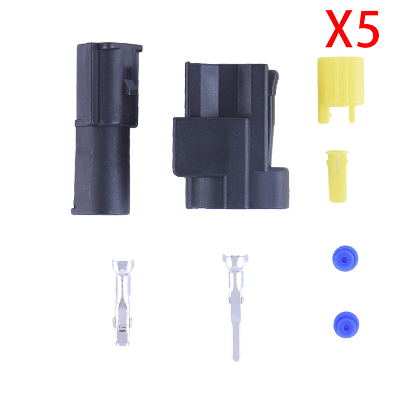 5 Sets New Car Part Kit 1 Pin Way Sealed Waterproof Electrical Wire Car Auto Female Male Connector Plug Set Drop Shipping(China (Mainland))
