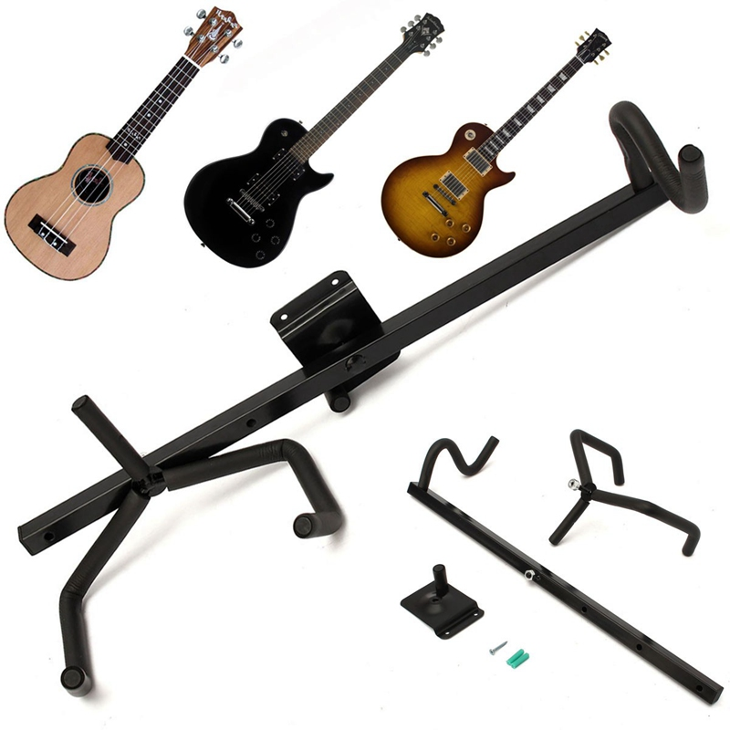 60cm Iron+EVA Electric Guitar Wall Hanger Horizontal Acoustic Guitarra Holder Bass Stand Rack Hook Guitar Parts & Accessories(China (Mainland))