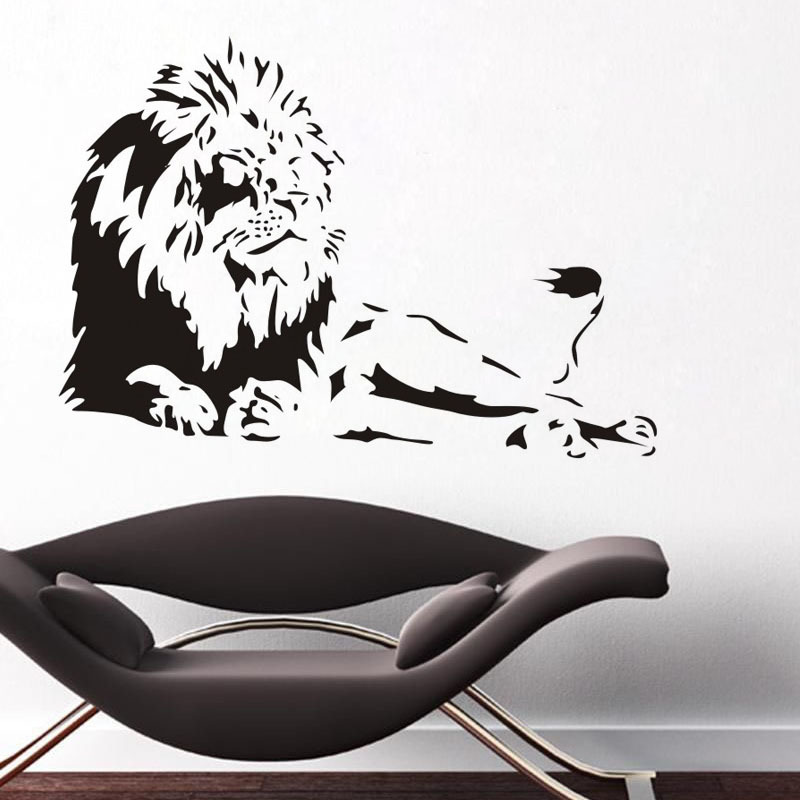 Super Large Lions Cartoon Animal Wall Stickers Living Rooms Bedroom Decoration Decals Kitchen Art WallPapers Home Decor Mural(China (Mainland))