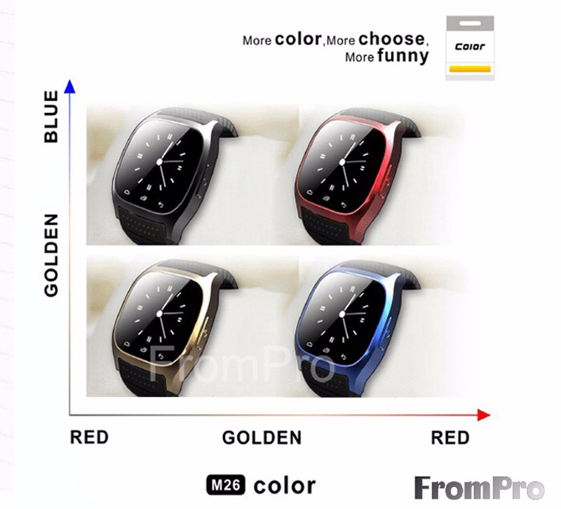 image for Waterproof Smartwatch M26 Bluetooth Smart Watch With LED Alitmeter Mus