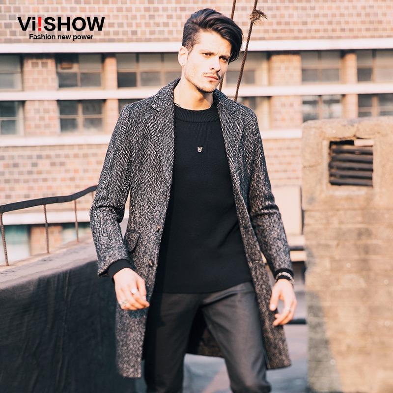 Mens Trench Coat 2015 New Fashion Designer Men Long Coat Autumn Winter jacket men outwear Slim fit Trench Coat Men Plus Size