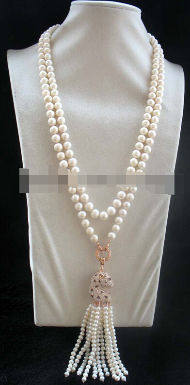 08149 freshwater pearl white round leopard mnecklace 50 nature<br><br>Aliexpress