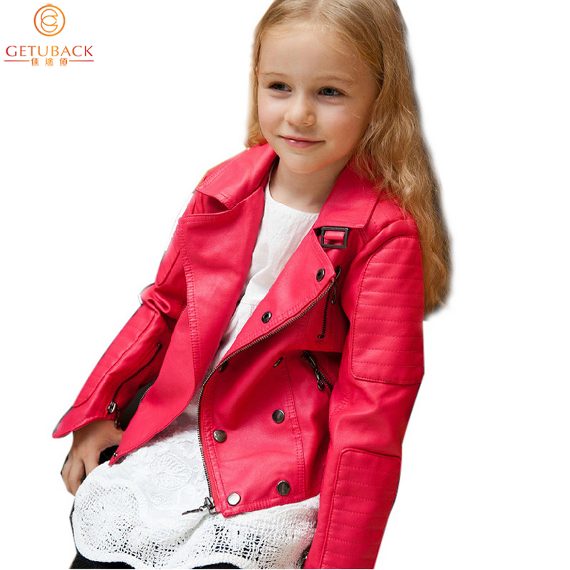 Winter 2015 New Arrival Boys &amp; Girls Solid Rivet Jackets Kids Long Sleeve PU Leather Javece Children Fashion Style Coats , LC554<br><br>Aliexpress