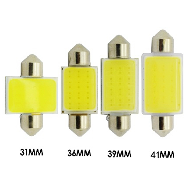31mm 36mm 39mm 41mm C3W C5W C10W Festoon COB led Car Licence Plate Light Auto housing Interior Dome lamps Reading Lights White(China (Mainland))