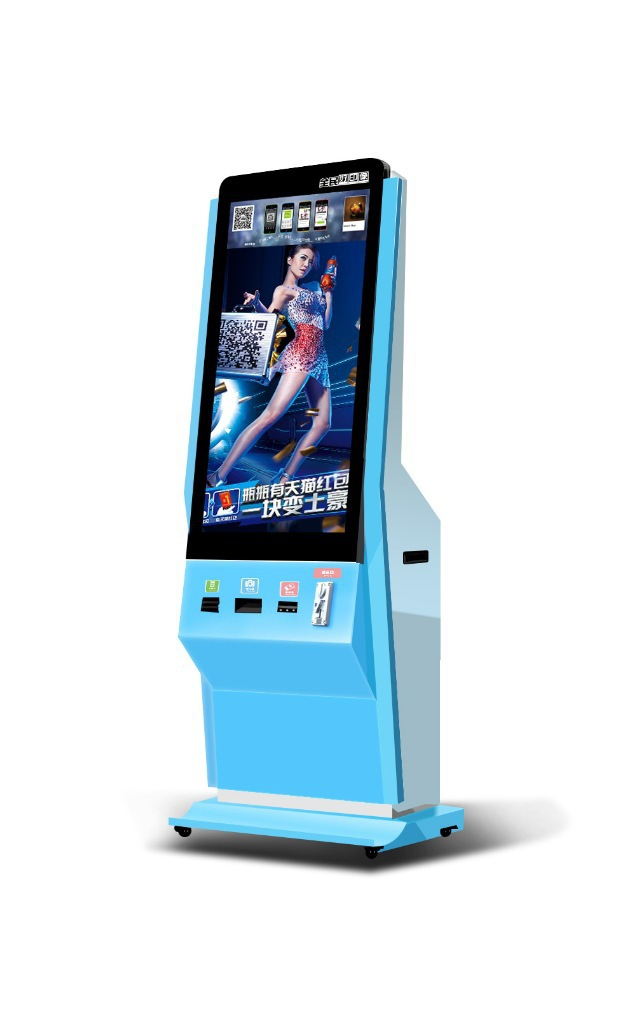 Factory price android Network wifi 3g 42 Inch/47 inch LCD Wechat Photo Printing Vending Machine/public photo booth/printer kiosk(China (Mainland))