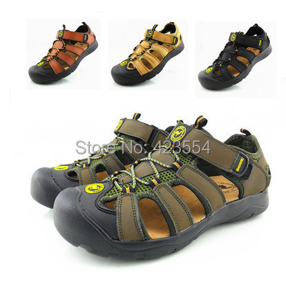 Brand New Plus size Leather Men Sandals Comfortable Casual Summer Shoes outdoor beach sandalias high quality 39-45(China (Mainland))