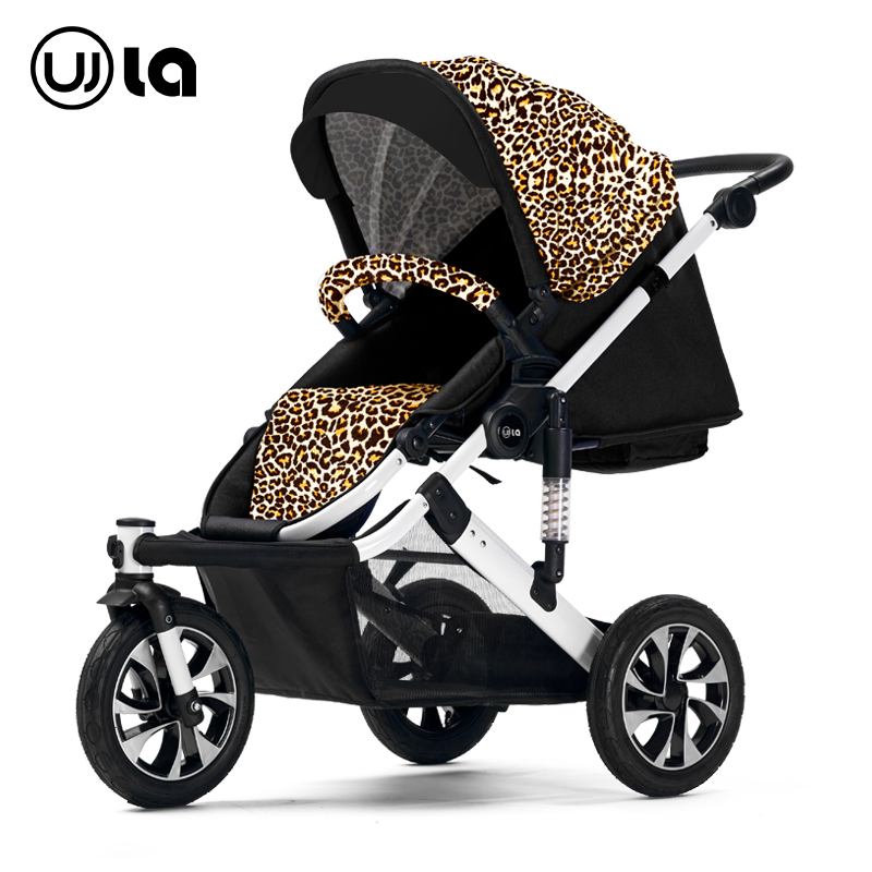 Stroller can sit can lie high landscape pram winter and summer light inflatable round BB baby carriage WLA30(China (Mainland))