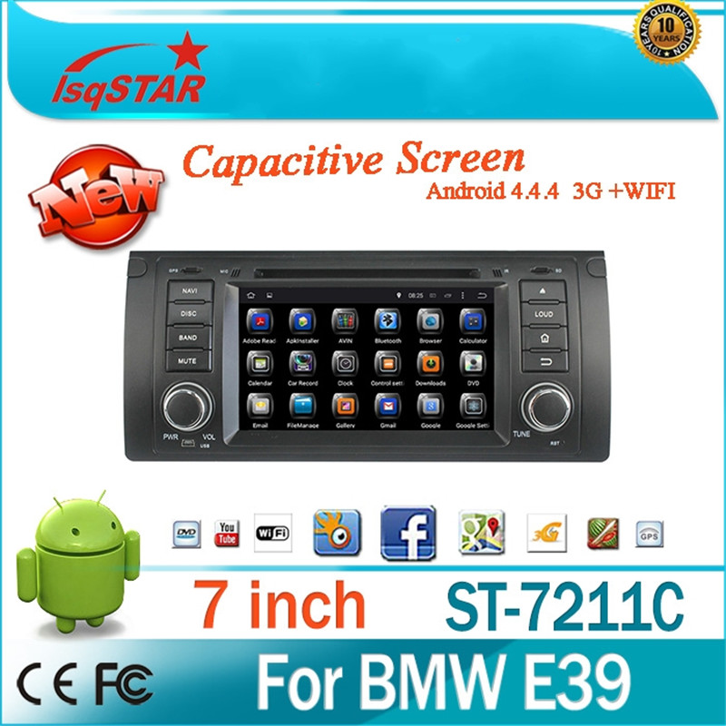 """1 Din Car Dvd Player 7"""" touch screen Android 4.4 auto radio 3g Wifi can bus GPS car video player For BMW M5 E39 X5 E53(China (Mainland))"""