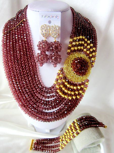 Best-selling wedding bead, Nigeria for the ceremony, the bride, crystal necklace suits T-1322<br><br>Aliexpress