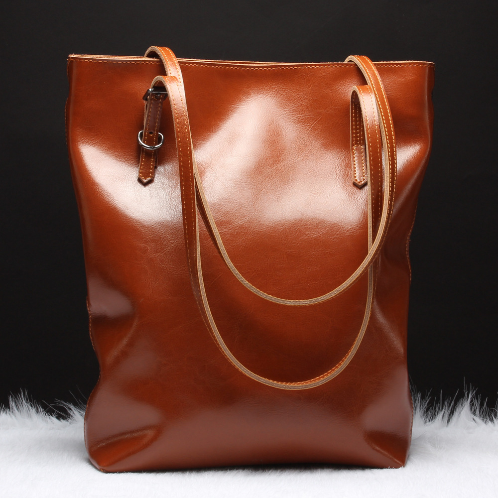 2015 New Design Fashion Leather Handbag, 100% Genuin Leather Handbag For Women, Vintage Brown Leather Bags For Women A45