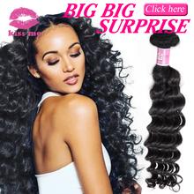 Kiss Me Hair Products Peruvian Virgin Hair Deep Wave Virgin Peruvian Hair Weave Bundles Cheap Peruvian Hair 3Pcs Lot(China (Mainland))