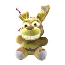 Cinco Noites na Freddys Freddy das Crianças Urso Dos Desenhos Animados Palhaço Figura juguetes Brinquedos Coelho de Pelúcia(China)