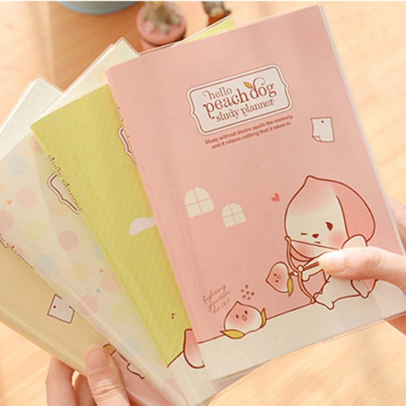 Cute Peach Dog Aganda 2016 Weekly Daily planner/Organizer PVC diary Notebook paper 96 sheets Office School Supplies Gift<br><br>Aliexpress