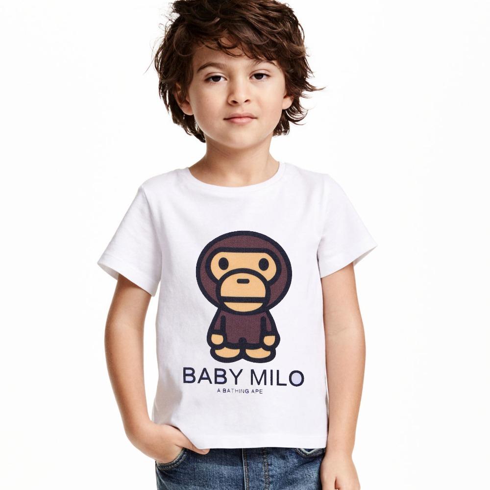 Kids Children Summer Baby Milo Clothes Cotton T shirt For Boys Girls short sleeve cotton Baby Milo shirt(China (Mainland))