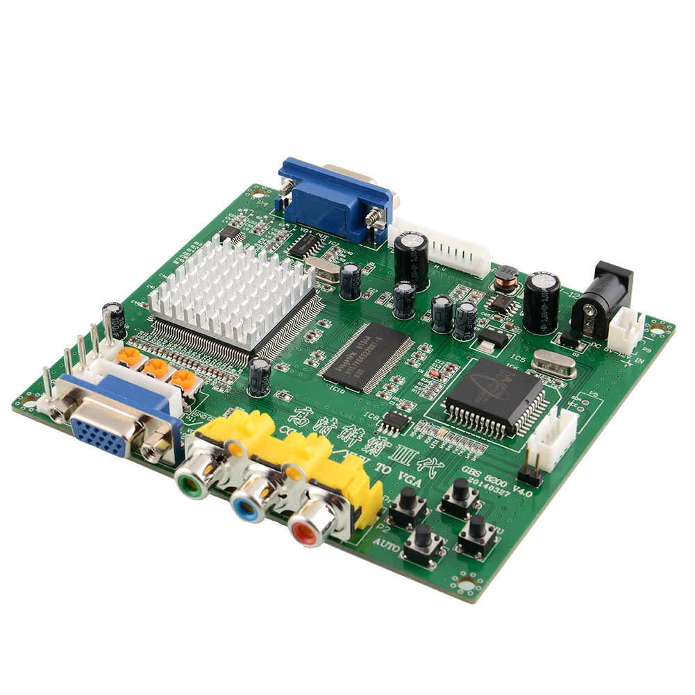 GBS8200 ARCADE GAME CONVERTER Board CGA RGB EGA VGA to VGA to LCD Latest Free shippingFree Shipping(China (Mainland))