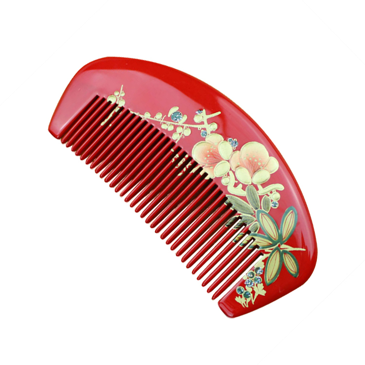 hair styling tool manufacturers, wholesale natural boxwood comb -painted lacquer detangler hair brush detangling brush(China (Mainland))