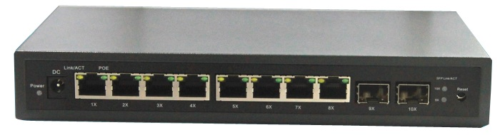 8 Port 10/100/1000Mbps Managed Switch With 2 Gigabit SFP Slots IGMP VLAN(China (Mainland))