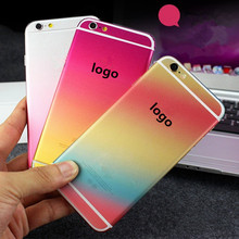 NEW!! The gradient Colorful Full Body Cover Skin Sticker Protection Case For iPhone 6 6s/ 6plus 6splus