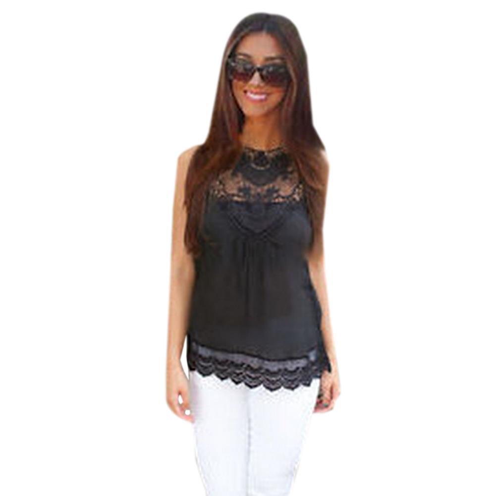 Black high neck sleeveless blouse smart casual blouse for Black sleeveless shirt womens