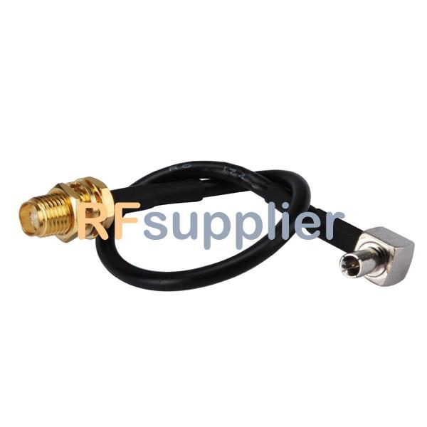 10PCS TS9 Plug RA to SMA Female Pigtail Cable for Novatel Wireless USB Modem(China (Mainland))