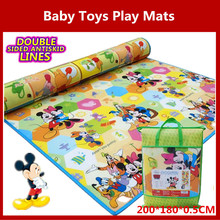 Double Sided Antiskid Waterproof blanket game Baby Toys Play Mats Crawling+Toddler+Learning+Entertainment+Outdoor Picnic(China (Mainland))
