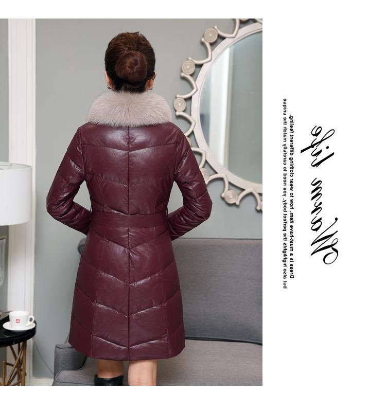New Winter Leather Jacket Women 2017 Ladies Fashio sheepskin Coat Shearling Women Long Leather Womens Winter Jackets And Coats