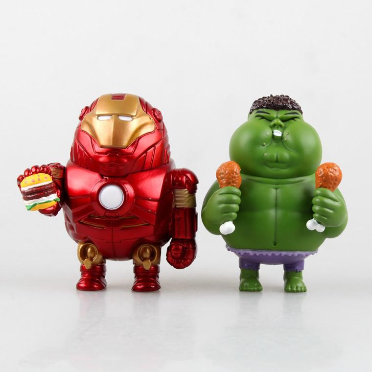 1pcs/set Ironman Fatty Hulk Avengers2 Original QHulkbuster Marvel Figures PVC 8cm Magic Animation Minifigures Collection Globos(China (Mainland))