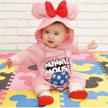 PPY-38,baby clothing cotton or polar fleece newborns clothes pink/blue boys girls rompers clothes cartoon rompers for newborns(China (Mainland))