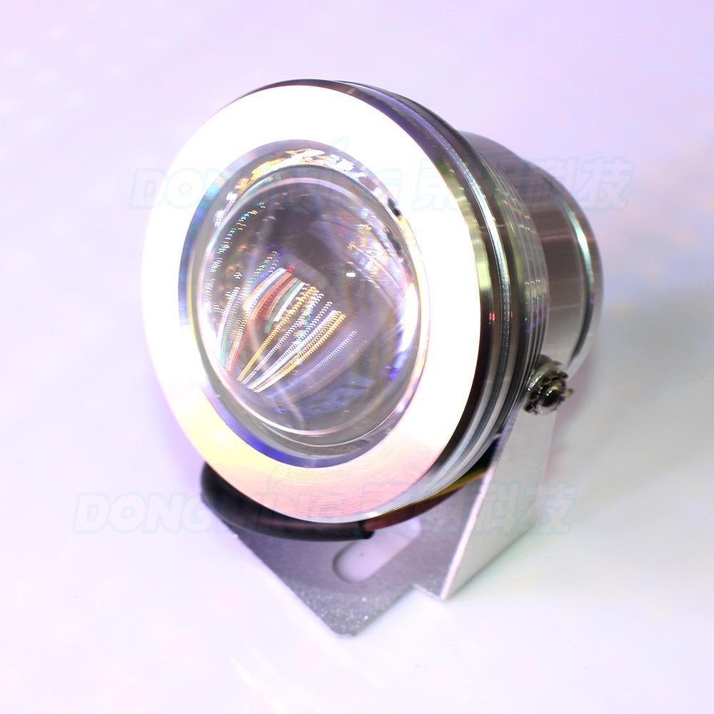 silver cover led underwater pool light convex lens lamp red blue green lights IP68 10W - Zhongshan YoYo Lighting Co Ltd store