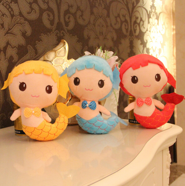 18cm Kids Toys Mermaid Pattern Plush Doll Pokemon Skyblue Cute Animal Toys For Children Birthday Gifts Wedding Gift(China (Mainland))