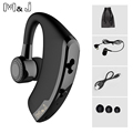 M J Handsfree Business Bluetooth Headset With Microphone Voice Control Wireless Headphone For Driving Iphone Samsung