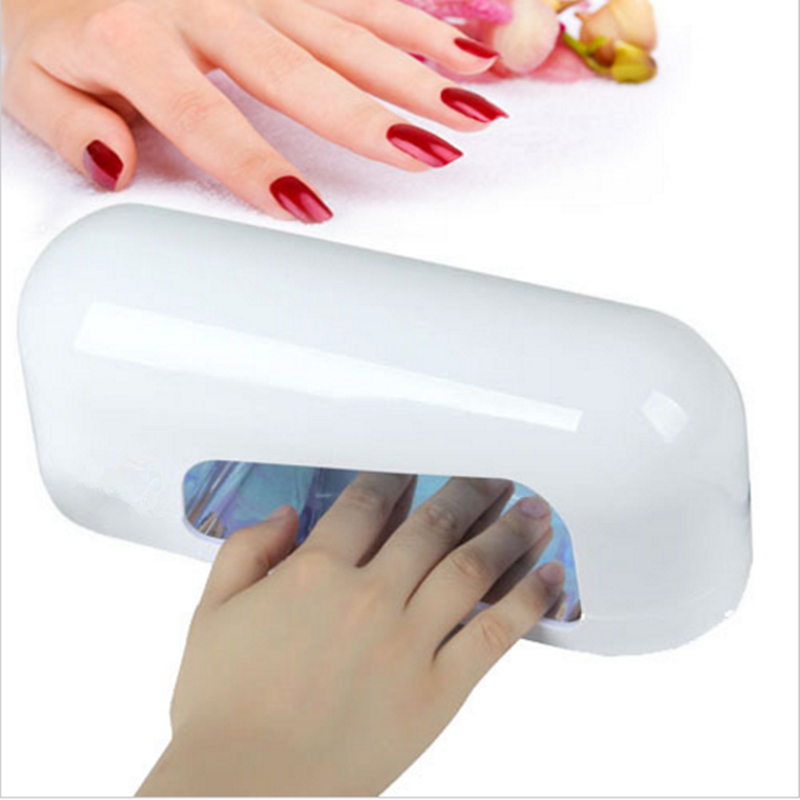 UV Nail Gel Lamp 9W 110V 220V Polish Dryer Curing Nails Arts 365nm Bulb + EU Plug  -  Home's World store