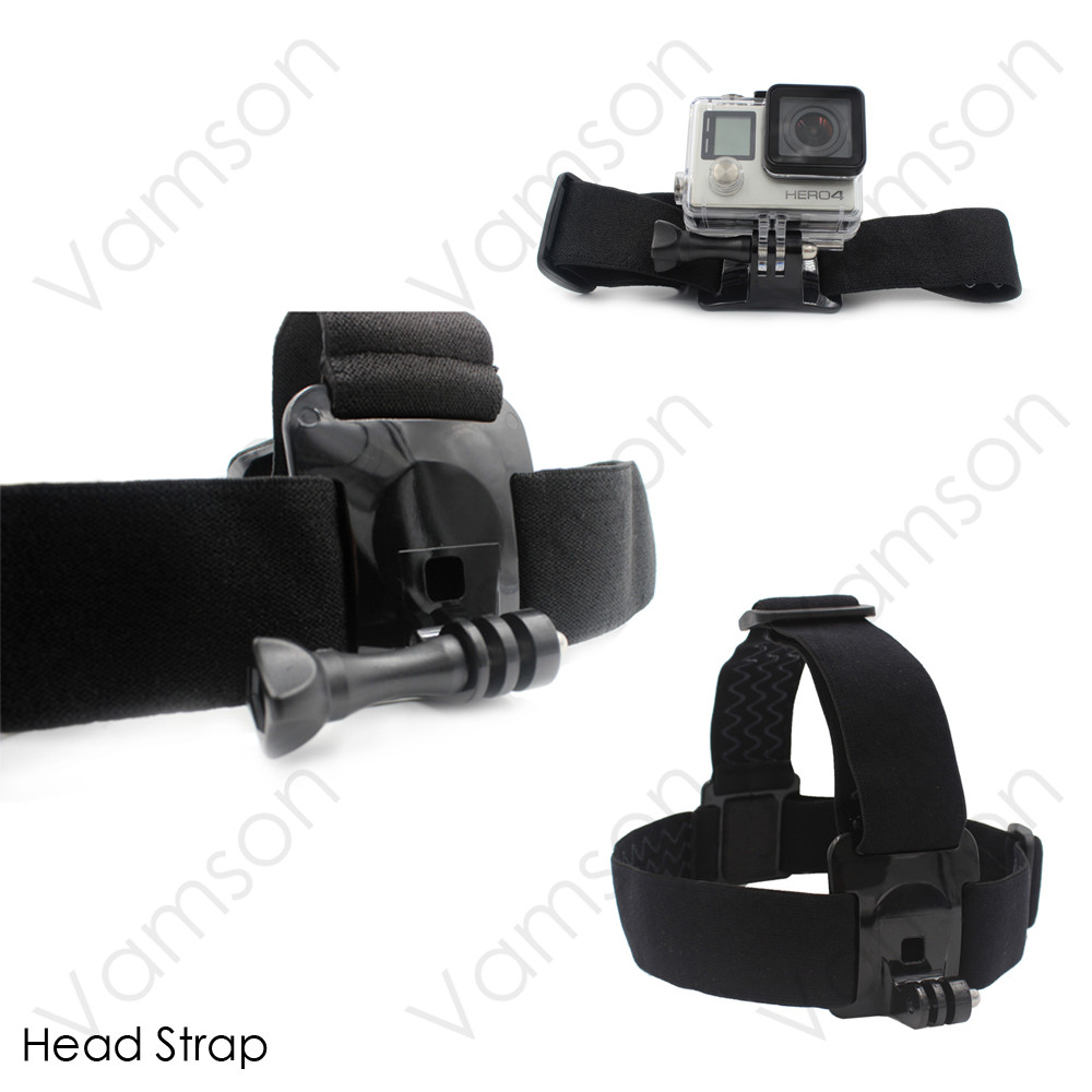 13 in 1 New GoPro Accessories Small Size Bag Kit Universal Bridge Adapter Tripod Hand Strap For Go pro Hero 4 3+ Xiaomi Yi VS21