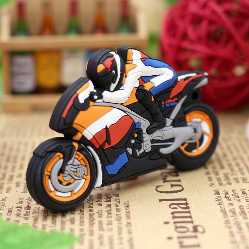 New special USB Flash Drive Motorcycle Cartoon Pen Drive 32gb 16gb Memory Stick 8gb 4gb Pendrive usb stick gift Free Shipping(China (Mainland))