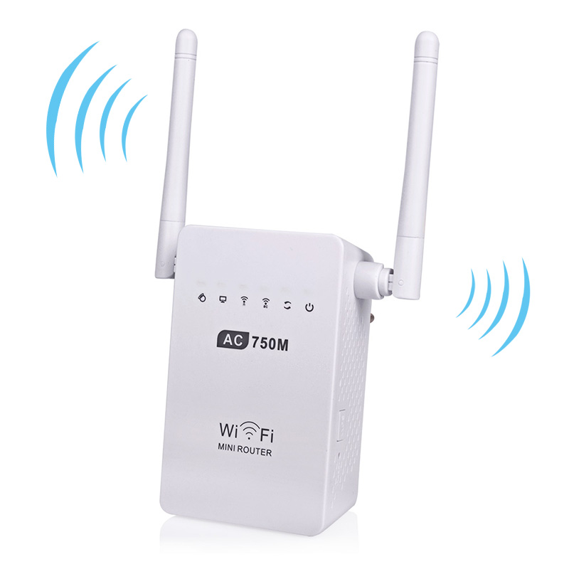 Mini Wifi Router 750Mbps Original Wireless Router Wifi Repeater 802.11 ac/b/g/n Wifi Signal Amplifier Booster Dual-Band 2.4/5GHz(China (Mainland))