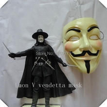Hot Selling V for VENDETTA Halloween Cosplay MASK Costume Guy Fawkes Anonymous mask for women and men party masks