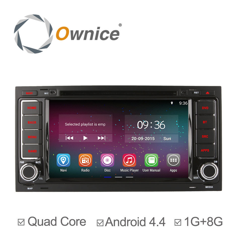 """Ownice 7"""" Quad Core 800*600 Android 4.4 Car DVD Multimedia Video Player GPS Navigation For VW Touareg T5 Multivan Transporter(China (Mainland))"""