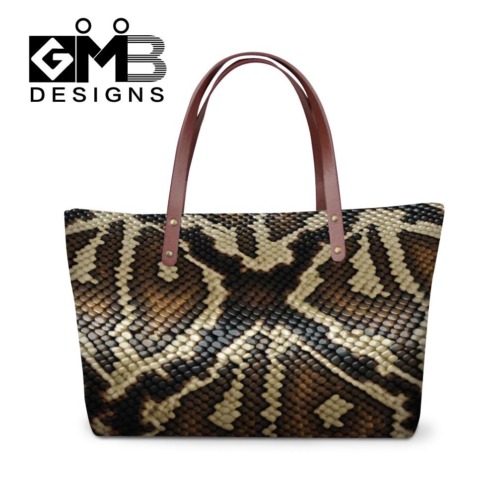 cool personalized snake skin printed handbags women outdoor shopping fashion handbag ladies travel casual shoulder messenger bag(China (Mainland))