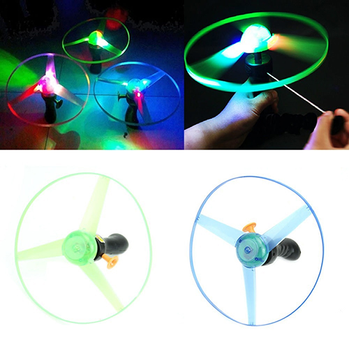 1pc LED Light Spin Frisbees Toy Outdoor Boomerangs Flying Saucer Helicopter UFO Toys(China (Mainland))