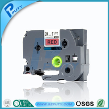 24mm black on red label tape tze 451 tze-451 compatible p-touch label printer