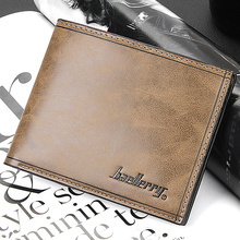 High quality Leather men s Wallets Wholesale leather short leather wallets Free drop Shipping best gift
