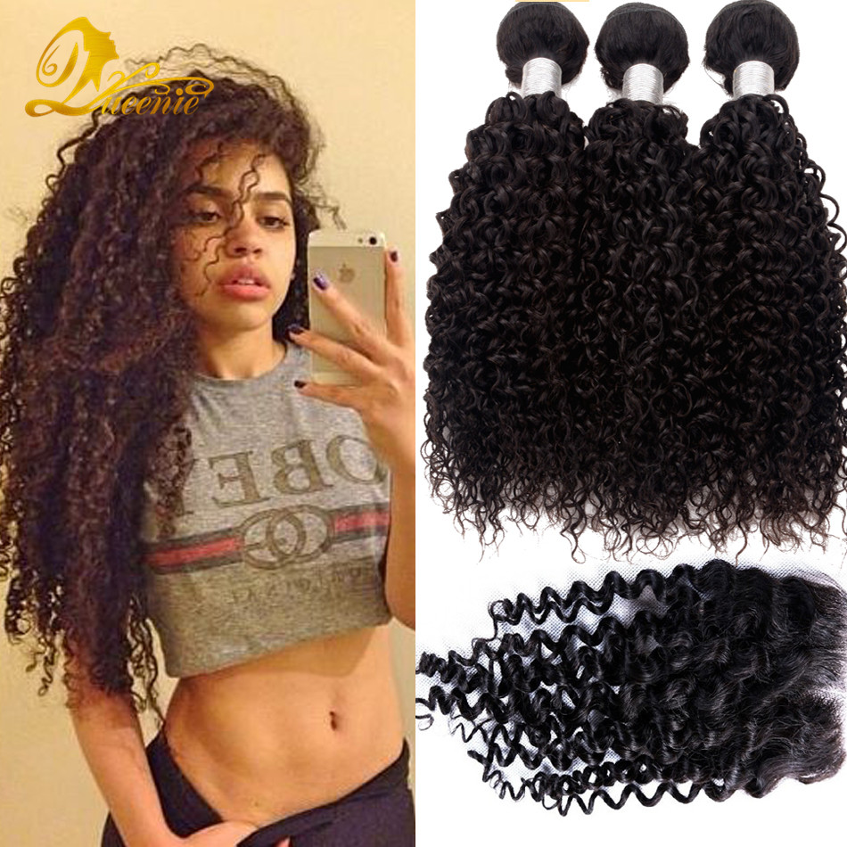 3 Kinky Curly Bundles With Closure Queen Star Malaysian Hair With Closures Gem Beauty Supply Hair Store Best Human Hair Vendor<br><br>Aliexpress