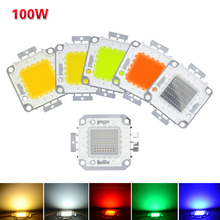 High Power COB LED Beads 100W Led Beads Chip DC 10V-32V Integrated Beads SMD For Floodlight Spotlight White Red Green Blue RGB(China (Mainland))